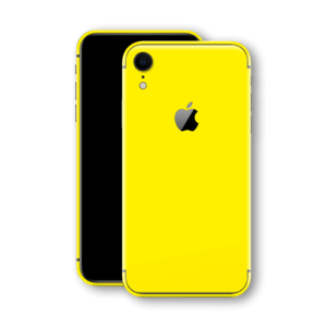 iphone xr glossy yellow back glass