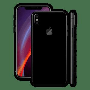 iphone xs back glass black